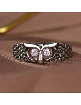 Vintage Cute Owl Animal Men Women Ring 925 Silver Wedding Jewelry Gift Size 4 14 by Junxin