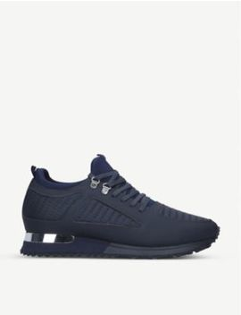 Quilted Diver Navy Trainers by Mallet