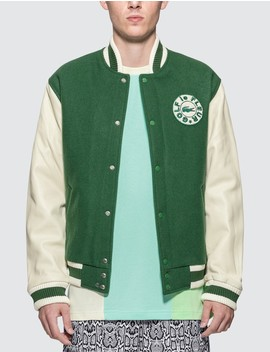 Golf Le Fleur* X Lacoste Wool Varsity Jacket by              Lacoste