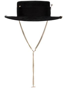 Chain Strap Boater Hat by Ruslan Baginskiy