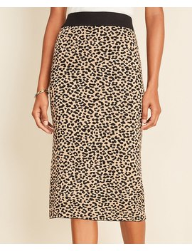 Cheetah Jacquard Sweater Pencil Skirt by Ann Taylor