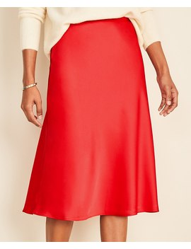 Satin Skirt by Ann Taylor