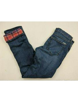 Eddie Bauer Women's Boyfriend Fit Relaxed Leg Flannel Lined Jeans   Size 4 by Eddie Bauer