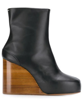 Wooden Wedge Ankle Boots by Maison Margiela