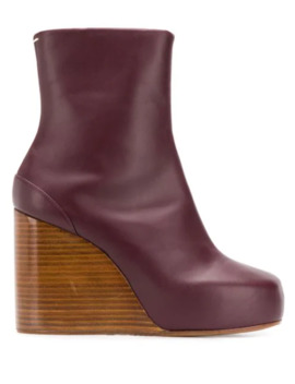 Square 100 Wedge Boots by Maison Margiela