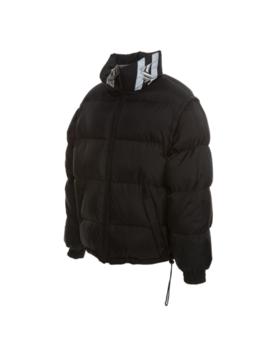Karl Kani Bubble Insulated Jacket Black Silver Reversible Coat Mens Outerwear by Karl Kani