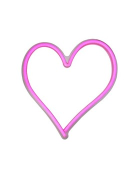 "Northlight 13.5"" Neon Style Led Lighted Valentine's Day Heart Window Silhouette Sign   Pink by Northlight"