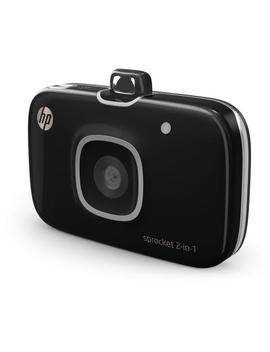 Hp Sprocket 2 In 1 Photo Printer And Camera (Black) by Hp