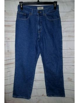 Vtg Ll Bean High Waist Mom Jeans 10 P Petite Plaid Flannel Lined Warm Winter by L.L. Bean
