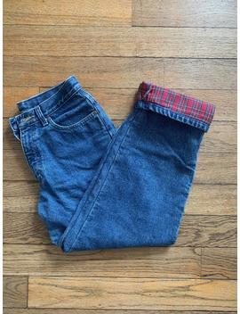 Vintage L.L. Bean Flannel Lined Jeans 27 W by Etsy