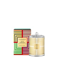 White Christmas 380g Triple Scented Candle by Glasshouse Fragrances