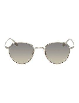 Silver Brownstone 2 Sunglasses by Oliver Peoples The Row
