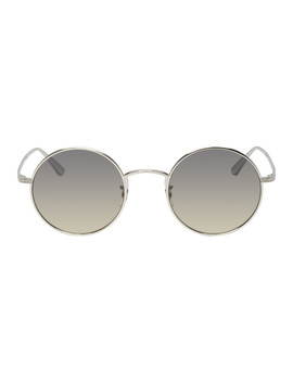 Silver After Midnight Sunglasses by Oliver Peoples The Row