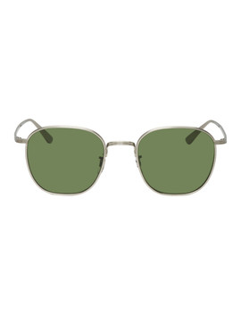 Silver Board Meeting 2 Sunglasses by Oliver Peoples The Row
