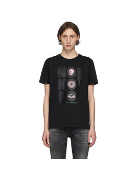 Black 'no No No' Roy T Shirt by Nudie Jeans