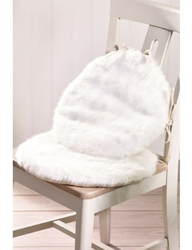 Set Of 2 Faux Fur Seat Pads by Next