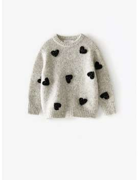 Knit Heart Sweater by Zara