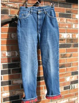 L.L Bean Jeans   Vintage   High Waist   Flannel Lined by Etsy