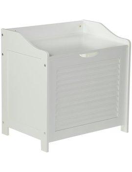 Premier Housewares Wooden Laundry Storage Cabinet   White587/9982 by Argos