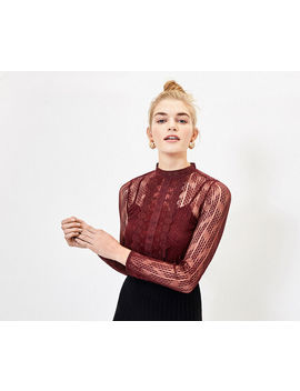 Lace Mesh Top by Oasis