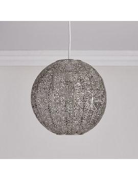 Wilko Polished Nickel Effect Sphere Pendant Light Shade Wilko Polished Nickel Effect Sphere Pendant Light Shade by Wilko