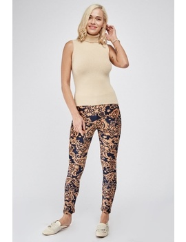 Paisley Print Fleeced Leggings by Everything5 Pounds