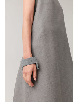Wool Leather Cuff by Cos
