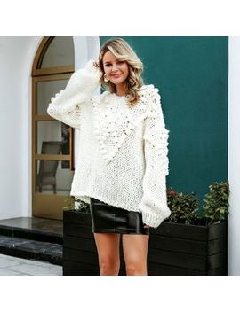 Forest White   Pom Pom Sweater by Forest White