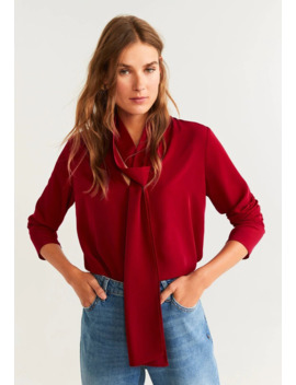 Bow   Blouse by Mango