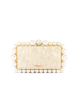 Eos Box Clutch In Pearl by Cult Gaia