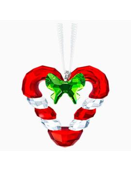 Candy Cane Heart Ornament by Swarovski