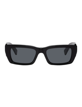 8 Moncler Palm Angels Black Rectangular Sunglasses by Moncler Genius