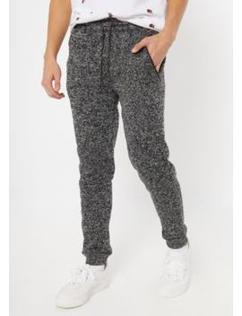 Black Marled Tech Moto Joggers by Rue21