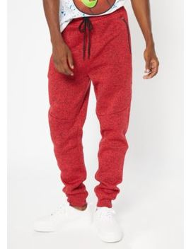 Red Marled Tech Joggers by Rue21