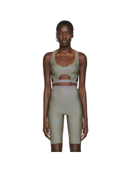 Ssense Exclusive Grey Vyper Sports Bra by Charlotte Knowles