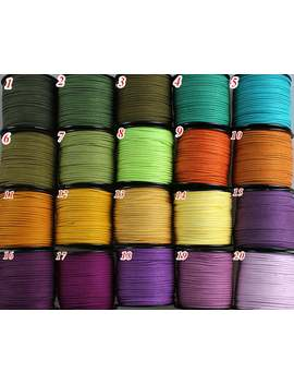 3mm Flat Faux Suede Leather Cord,Diy Leather String Cord Supplies,Faux Suede Lace,Vegan Suede Cord (60 Colors) by Etsy