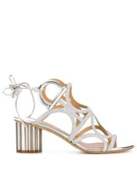 Flower Heel Gancini Sandals by Salvatore Ferragamo