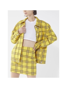 Nwt Urban Outfitters Yellow Plaid Jacket Skirt Set   Nwt by Urban Outfitters