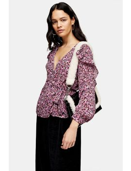Ditsy Floral Frill Blouse by Topshop