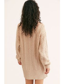Good As Gold Cable Knit Sweater by Free People