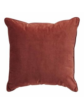 Wilko Velour Cushion Terracotta 50 X 50cm Wilko Velour Cushion Terracotta 50 X 50cm by Wilko