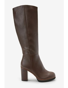 Forever Comfort® Platform Knee High Boots by Next
