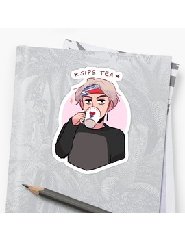 Mic Drop: V Sippin Tea Sticker by Randomsplashes