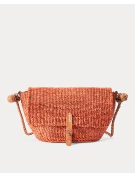 Abaca Straw Crossbody Bag by Ralph Lauren