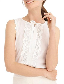 Scallop Lace Trim Shell by Jcrew