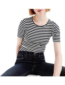 Perfect Fit T Shirt Striped by Jcrew
