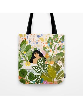 Bathing With Plants Tote Bag by Society6