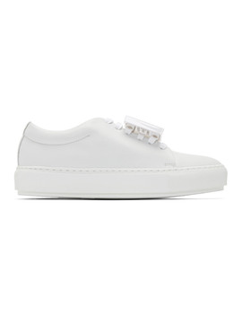 White Adriana Turn Up Sneakers by Acne Studios
