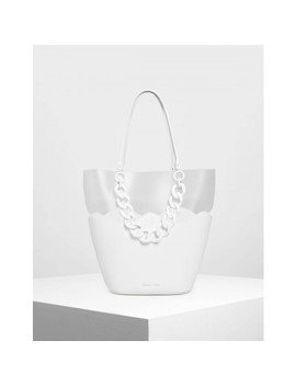 Chunky Chain Tote Bag by Charles & Keith