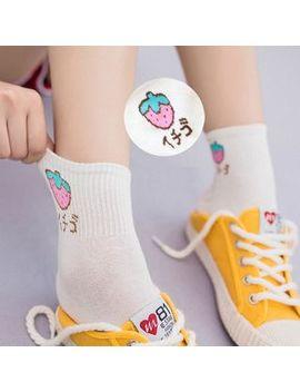 Laceyleft   Fruit Print Socks / Set Of 3: Fruit Print Socks by Laceyleft